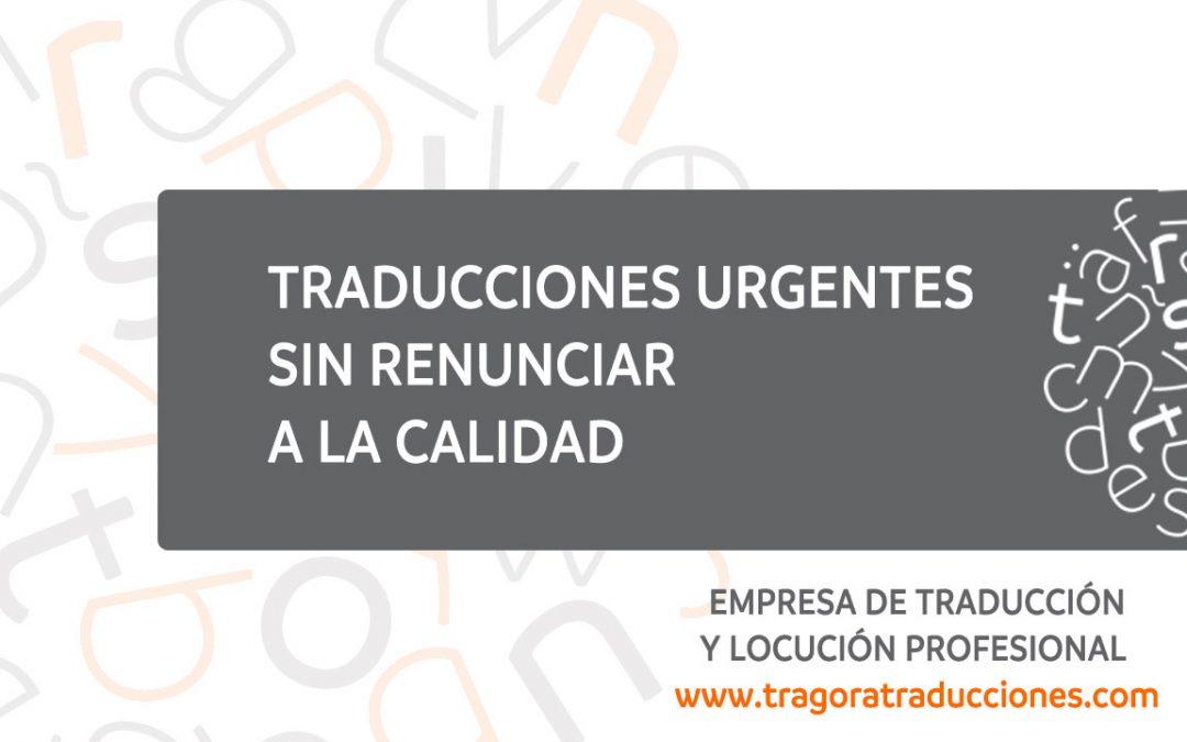 traducciones urgentes