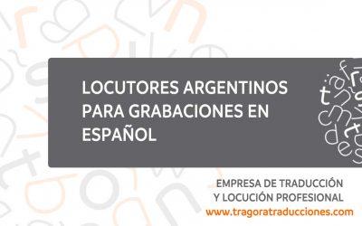 Locutores argentinos para grabaciones